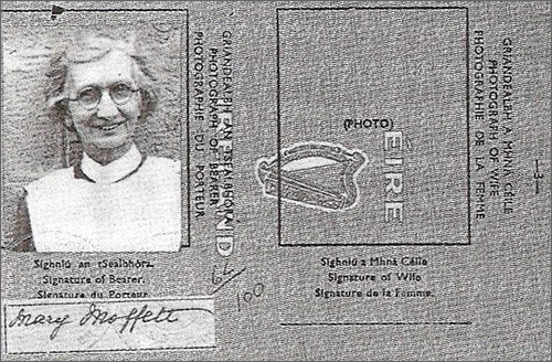 Nurse Moffett's passport